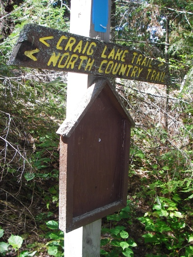 Craig Lake this way - a sign out on one of the trails.