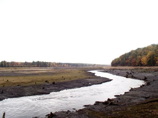 The Boardman River returns to its original channel upstream from the dam where a pond had been created by damming the river 90 years ago. Courtesy Photo.