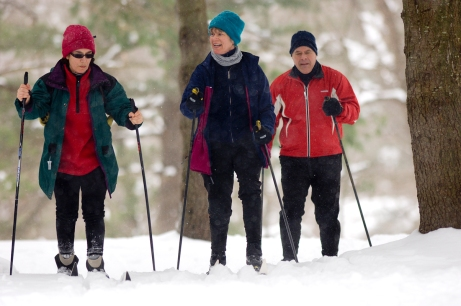 Cross Country skiers can also enjoy groomed trails at Yankee Springs State Recreation Area. Photo: Dave Kenyon, Michigan DNR.