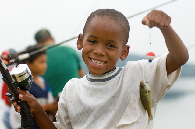 Family-friendly fishing sites will allow parents and children to get out and enjoy fishing. Photo: Dave Kenyon, MDNR.