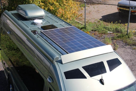 Camping off the grid: A solar power package is now available for RoadTrek motohomes. Courtesy photo.