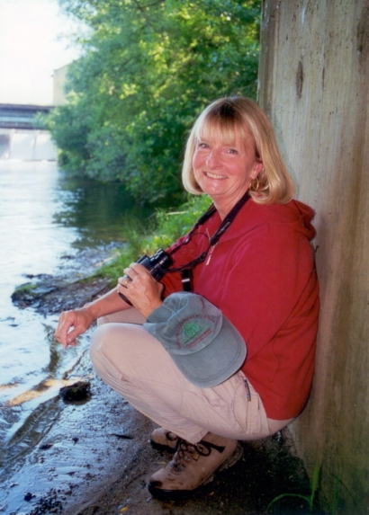 "Deaver ""Dea"" Armstrong is the Ornithologist for the City of Ann Arbor. Photo: © City of Ann Arbor Natural Areas Preservation"