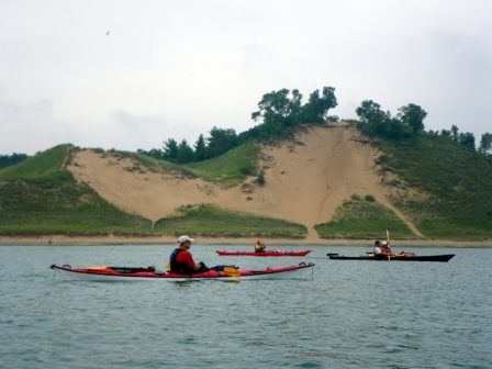 Paddling along Indiana Dunes National Lakeshore. Photo; Courtesy of LMWTA