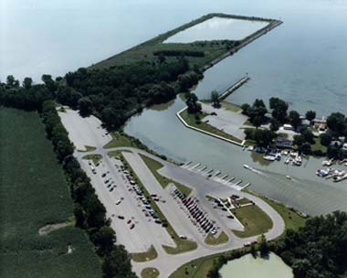 Bolles Harbor reconstruction is complete. Anglers can access Lake Erie there again. Photo: Michigan DNR.
