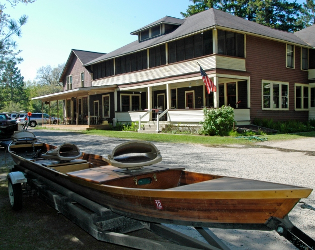 The historic Fuller's North Branch Outing Club in Lovells offers anglers a restful place to stay, complete with meals, a fly shop and guide services. Anglers spend the day fishing in classic AuSable River boats. Photo: Howard Meyerson