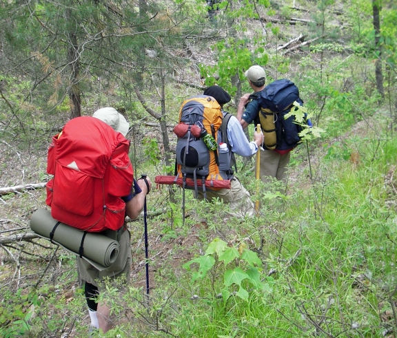 Internal frame and external frame packs both have a place on the trail. Photo: Howard Meyerson
