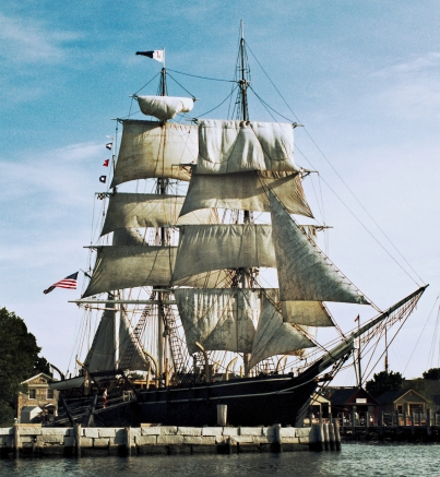 The last of the wooden whaling ships, the Charles W. Morgan berthed at Mystic Seaport Connecticut. Photo: Courtesy of Mystic Seaport.