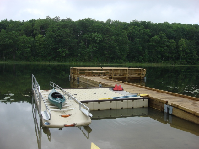 The new launch ramp at Grebe Lake in the Rifle River State Recreation Area. Photo: MDNR