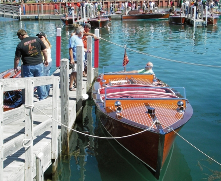 Lots of wooden boats at the Les Cheneaux boat show in Hessel in August. Photo: Howard Meyerson