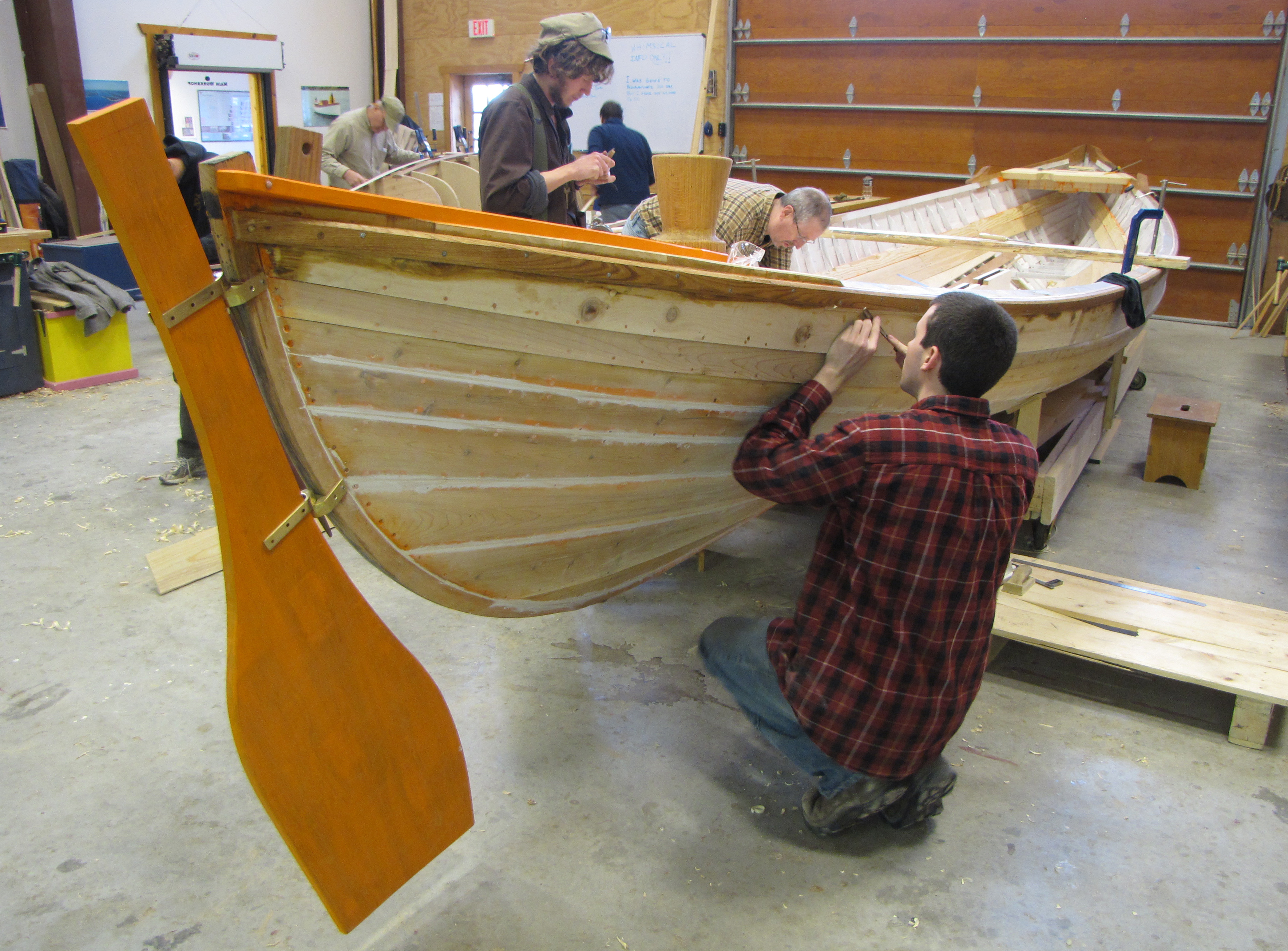 Building a whaleboat: Students tackle unusual project at Upper ...