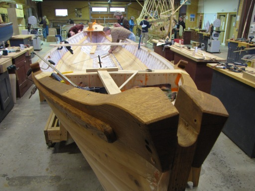 Securing white oak was essential in the construction of an authentic replica of a historic whaleboat. Photo: Courtesy of Great Lakes Boat Building School