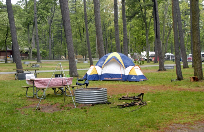Taking some time to look your tent over before leaving on a camping trip will help assure it provides a cozy shelter from bugs and bad weather when camping. Photo: Howard Meyerson