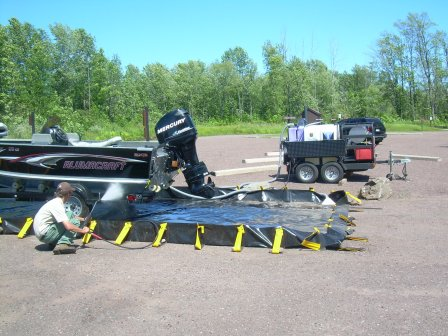 Portable weed washers will be onsite at various locations now in the Huron-Manistee National Forest. Photo: Courtesy US Forest Service