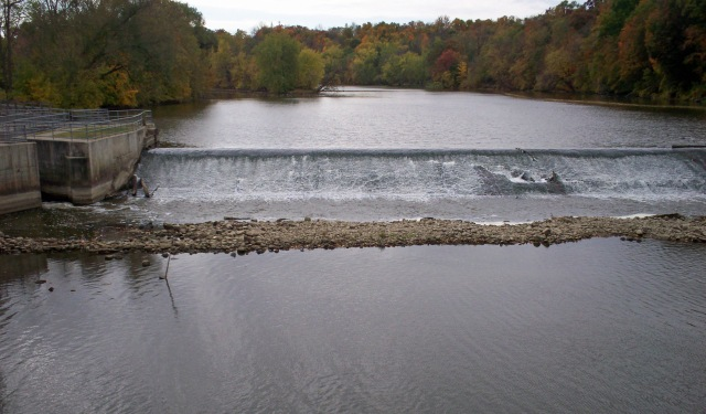 Due to the discovery of federally protected mussls, additional work and federal approval is needed before the 156-year-old Lyons Dam may be removed.  Photo: Susan Craft, Village of Lyons