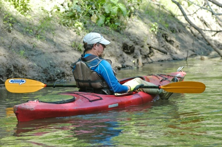 Association president, John Mitchell floats along on an open segment of the heritage water trail. Photo: Howard Meyerson