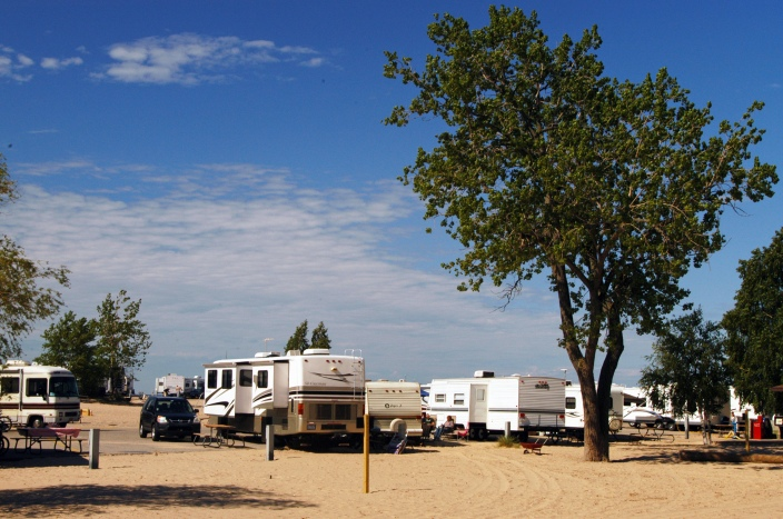 Grand Haven State Park and other Michigan state parks were poplar during the summer of 2013.  Photo: Howard Meyerson