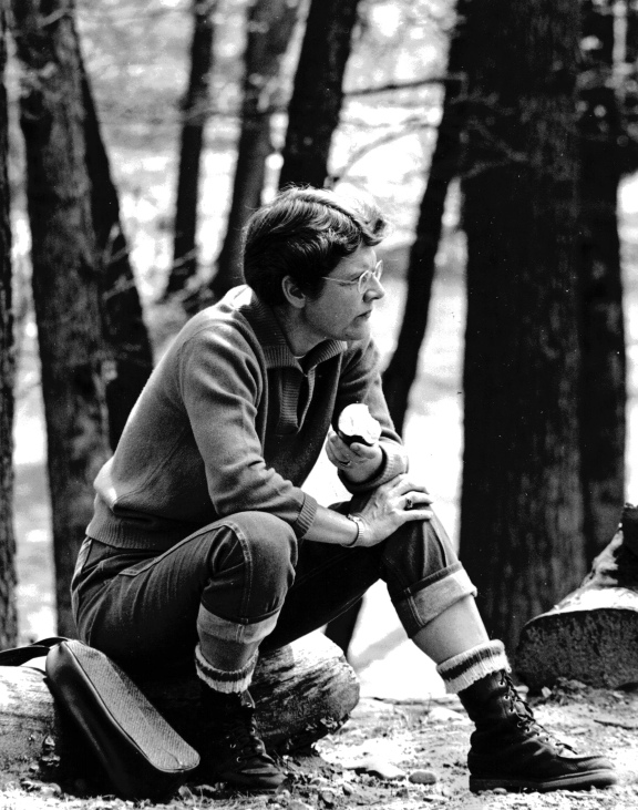 Mary Jane Dockeray stops for a snack on an outing at Camp Rogers in 1973. Photo: Courtesy of Mary Jane Dockeray.