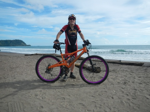 Dennis Murphy stops by the Pacific Ocean before starting the grueling 3-day race to the Caribbean Ocean through the mountains of Costa Rica. Photo courtesy of Dennis Murphy.