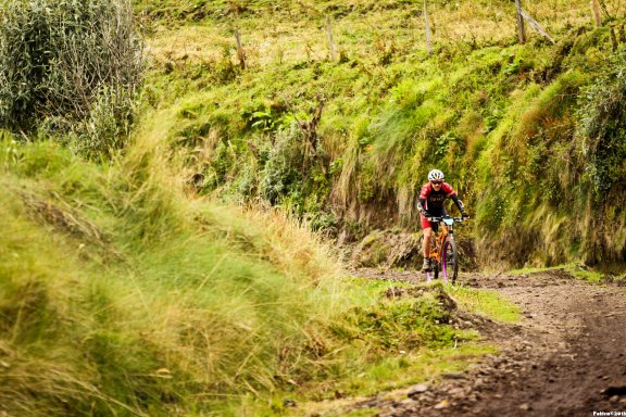 Dennis Murphy takes on one of the long climbs in Costa Rica's La Ruta. Photo: Courtesy of Dennis Murphy