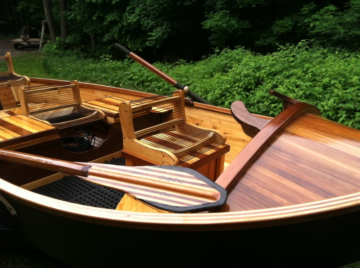 Each of Phil Croff's boats is hand build to customer specifications. Shown is the tradtional model. Photo courtesy of Croff Craft Custom Driftboats