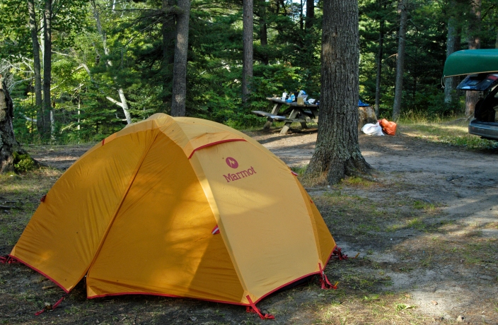 The four state forest campgrounds slated to open will offer simple amenities like these found at Reed and Green Bridge State Forest Campground on the Big Two-Hearted River. Photo: Howard Meyerson