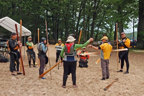 The Way: Instructor Doug Van Doren  teaches Greenland  paddling style to symposium students. Photo: Howard  Meyerson