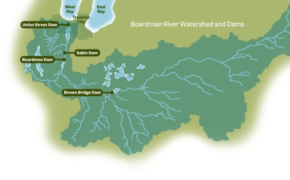 Boardman Watershed Map and Dams
