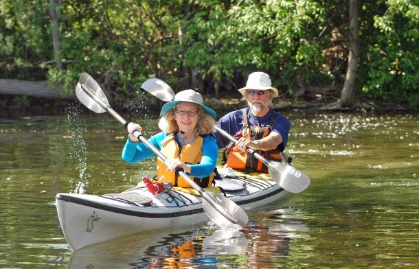 Gary and Linda DeKock will be paddling a tandem kayak on their journey down the Mississippi River. Photo:  Howard Meyerson