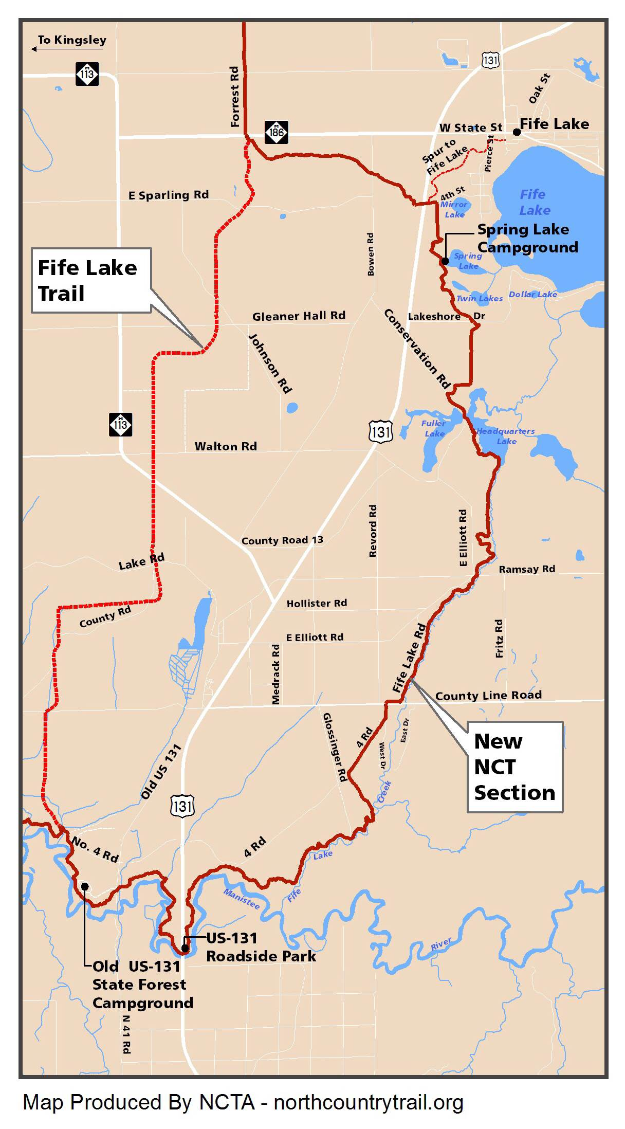 fife lake loop the north country trail reroute meets up with what is nowthe. north country trail fife lake loop trail now open  the outdoor