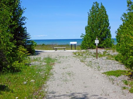 Hikers can take the trail to the shoreline and sit a spell and listen to the waves and seagulls. Photo: Howard Meyerson