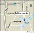 Austin Lake in Kalamazoo County. Graphic: MLive.