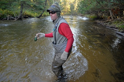 Phil Croff works a run on one of his favorite northern Michigan streams. Photo: Howard Meyerson