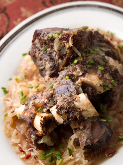 Austrian braised venison shank. Photo: Holly Heyser.