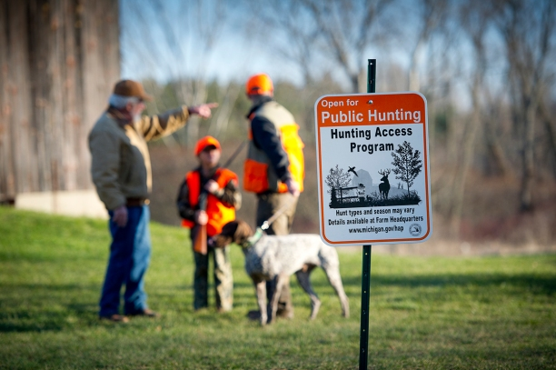 Michigan's Hunter Access Program pays farmers to allow hunters on their lands. Photo: Dave Kenyon, Michigan DNR.