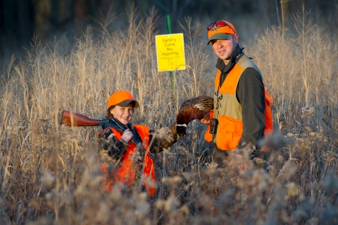 Pheasant habitat is one of the types listed in the Hunter Access Program. Photo: Dave Kenyon, Michigan DNR.