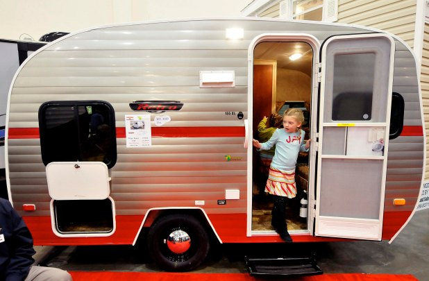 Retro RVs are in. More will be seen at the Grand Rapids Camper, Travel & RV Show. Photo: Showspan.