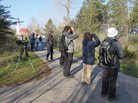 Birders at Tawas Point Birding Festival © Brad Slaughter.