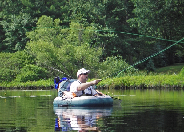 Float tubes are a great way to fish small ponds, lakes and easy flowing rivers. Photo: Howard Meyerson.