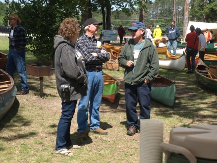 The Upper Great Lakes Regional Assembly of WCHA provides a good opportunity for wood canoe enthusiasts and owners to mingle and learn. Photo courtesy of WCHA.